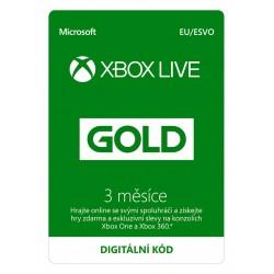 ESD XBOX - Zlaté členství Xbox Live Gold - 3 měsíce (Evropa)