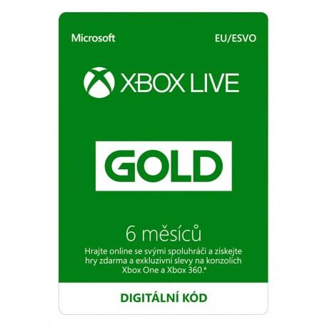 ESD XBOX - Zlaté členství Xbox Live Gold - 6 měsíců (Evropa)